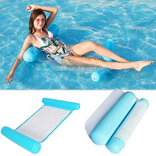 Wasser hängematte Schwimmbett,4-in-1Loungesessel Pool Lounge luftmatratze Pool aufblasbare hängematte...