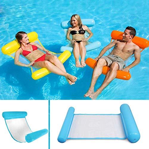 Sinwind Aufblasbares Schwimmbett, Wasser-Hängematte 4-in-1Loungesessel Pool Lounge luftmatratze Pool...