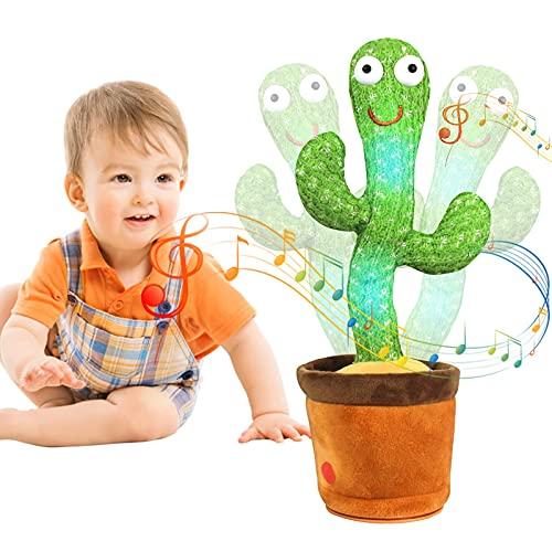 MIAODAM Kaktus Plüschtier, Tanzen Kaktus Plüschtiere Singen und Tanzen, Elektronisches Shake Kaktus...
