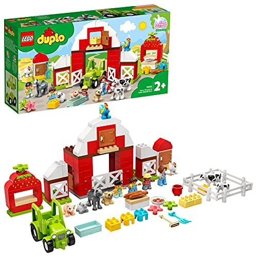LEGO 10952 DUPLO Scheune, Traktor und Tierpflege Kleinkinder Spielzeug ab 2 Jahren mit Figuren: Pferd,...