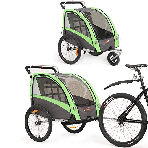 Kinderfahrradanhänger und Kinderwagen 2 in 1 Anhänger Jogger für Kinderfahrradanhänger mit Buggy-Set...