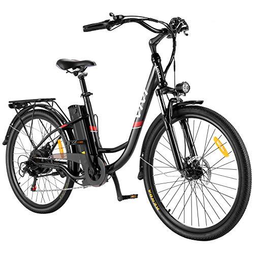 VIVI E-Bike Elektrofahrrad, 26 Zoll Pedelec Elektrisches Fahrrad 350W Citybike Elektrofahrräder mit...