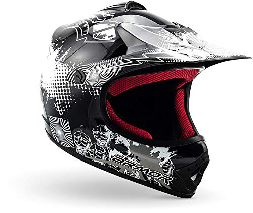 "armor HELMETS® AKC-49 ""Black"" · Kinder Cross-Helm · Motorrad-Helm MX Cross-Helm MTB BMX Cross-Bike..."