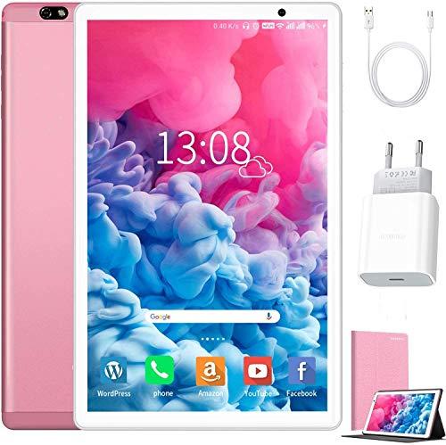 Tablet 10 Zoll Android 10 64 GB (720p/1080p Full HD-Display) - 4GB ram 4G Dual-SIM/SD, Tablets Quad Core,...