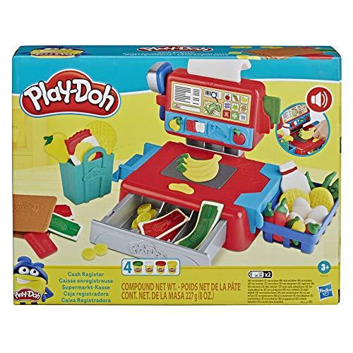Play-Doh Supermarkt-Kasse Spielzeug für Kinder ab 3 Jahren mit lustigen Geräuschen, Zubehör und 4...