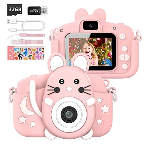 Hangrui Kinderkamera,Digitalkamera Kinder Selfie Fotoapparat Kinder mit 2,0-Zoll-Großbildschirm 1080P HD...