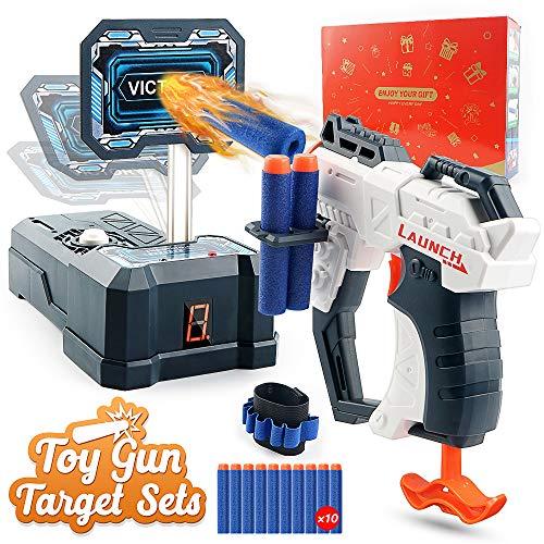 HOPOCO Spielzeug Blaster und Elektronische Digitale Zielscheibe für Nerf Pistolen, Auto-Reset,...