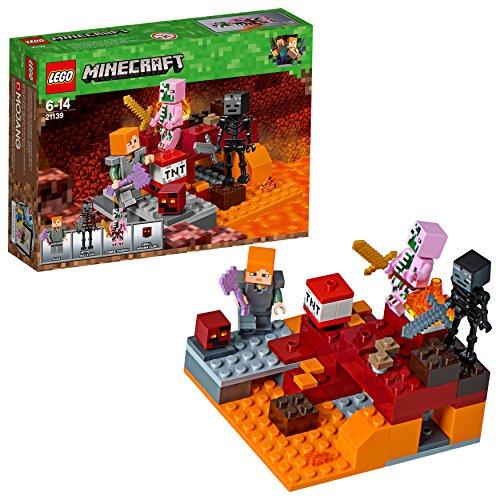 LEGO Minecraft 21139 'Nether-Abenteuer' Konstruktionsspielzeug, bunt