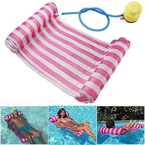 GEYUEYA Home Wasserhängematte Lounge Stuhl Luftmatratze Schwimmende Wasserbett Matte Swim Aufblasbare...