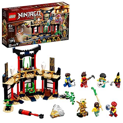 LEGO 71735 NINJAGO Turnier der Elemente Tempel Bauset mit Kampfarena und sammelbarer Figur des Goldenen...