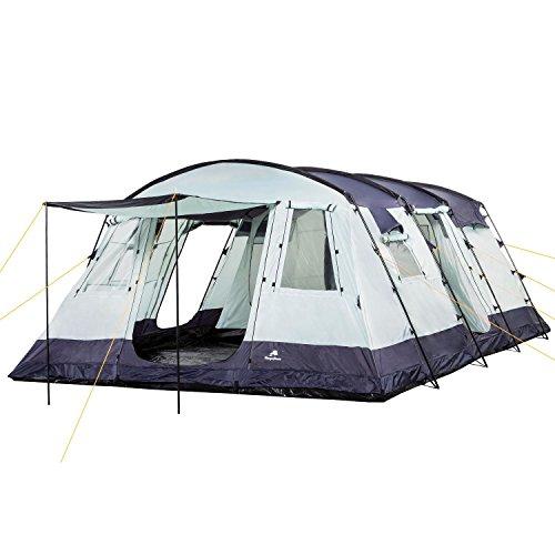 CampFeuer Familienzelt XtraL Zelt für 6 Personen | riesiger Vorraum, 5000 mm Wassersäule | Campingzelt...