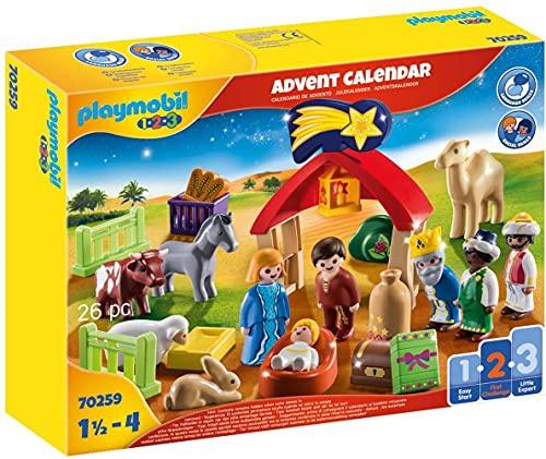 PLAYMOBIL Adventskalender 70259 Weihnachtskrippe mit liebevollen Figuren, Tieren und Zubehörteilen...