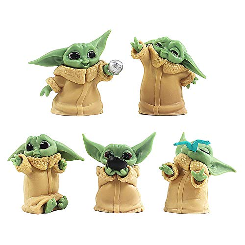 BESTZY Baby Yoda Spielzeug 5 Stück/Set Baby Yoda Serie Actionfigur Spielzeug Stars Wars Das...