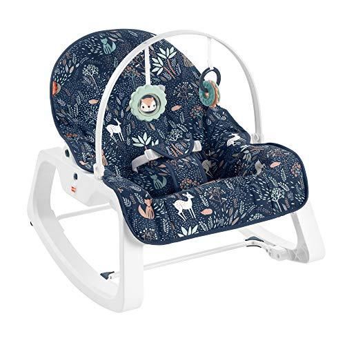 Fisher-Price HBF26 - 2-in-1 Mondenwald-Schaukelsitz von Fisher-Price, tragbarer Babysitz für Babys und...