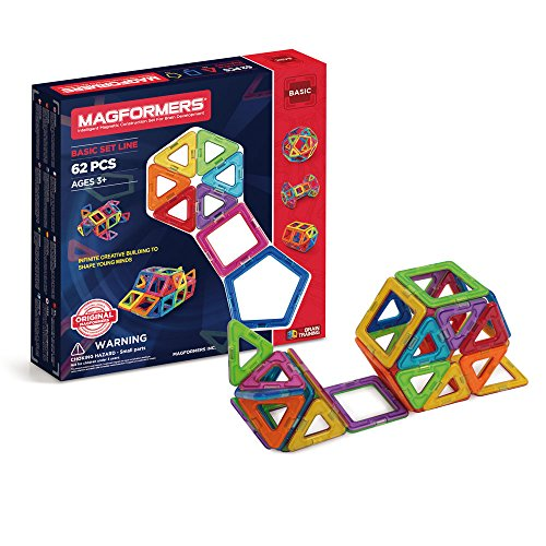MAGFORMERS 005-36002 Basic Konstruktionsspielzeug, 62-teilig, Mehrfarbig