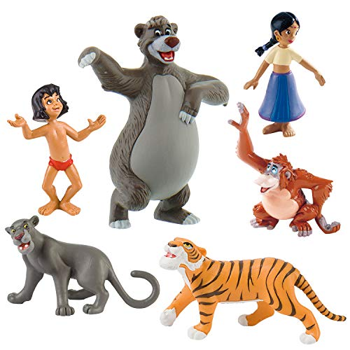 Bullyland Dschungelbuch Spielfiguren, 6er Set