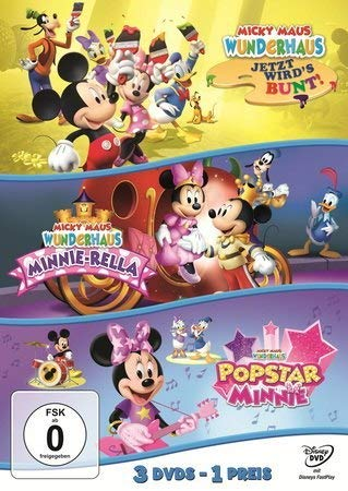 Micky Maus Wunderhaus - Jetzt wird's bunt! / Minnie: Rella / Popstar Minnie [3 DVDs]