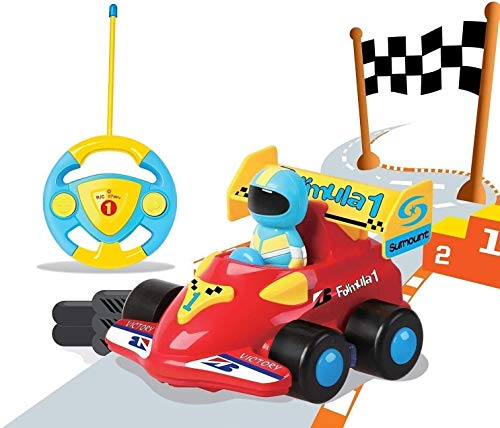 PowerLead Ferngesteuertes Auto Kindergeschenk, Verngesteuertes Auto mit Musik RC Cartoon, Autos mit...