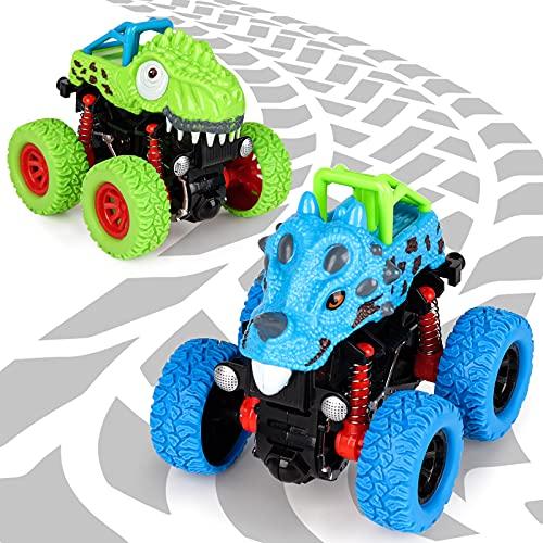Spielzeug ab 2 3 4 5 Jahre Junge, Dinosaurier Spielzeug Auto Geschenke für Jungen 3-8 Jährige Dino...