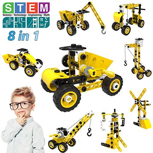 STEM Bauspielzeug, 8 in 1 Bausteine Konstruktion Spielzeug für 5 6 7 8 9 10+ Jahre alte Jungen &...