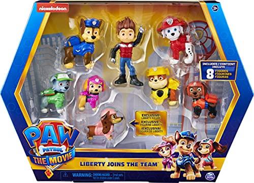 PAW PATROL 6063421, Geschenkset mit 8 Figuren aus dem Film und exklusiver Sammelfigur: Liberty kommt zum...