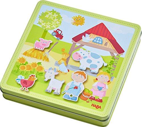Haba 301951 - Magnetspiel-Box Peters und Paulines Bauernhof, abwechslungsreiches Magnetpuzzle rund um das...