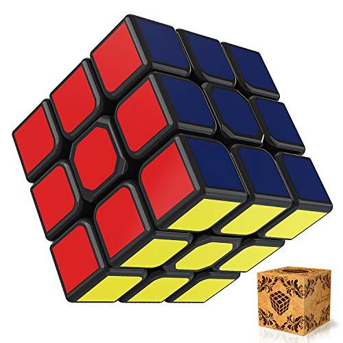 SPLAKS Zauberwürfel 3x3x3 magische Würfel original Speed Cube mit einstellbar Dreheigenschaften für...