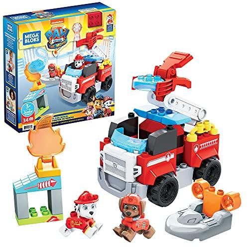 MEGA GYJ01 – Mega Bloks Paw Patrol Feuerwehr Bauset mit 34 Bausteine, Spielset für Kinder ab 3 Jahren