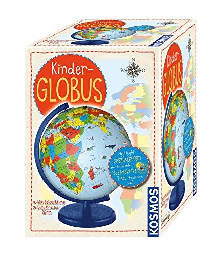 KOSMOS 673024 Kinder-Globus, ab 5 Jahren, mit Beleuchtung, Durchmesser 26 cm, Lernspielzeug für Kinder...