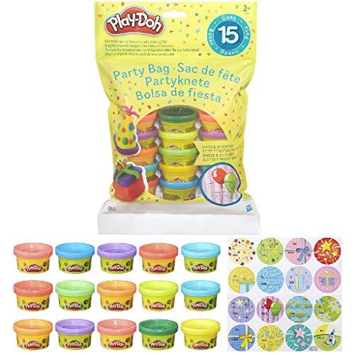 Play-Doh 18367EU4 - Partyknete mit Stickern, Knete