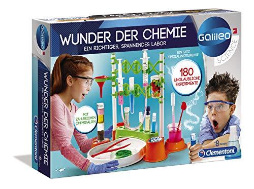 Clementoni 59187 Galileo Science – Wunder der Chemie, 180 Experimente für Zuhause, farbenfroher...