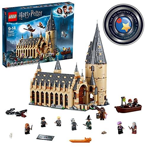 LEGO 75954 Harry Potter Die große Halle von Hogwarts, Geschenksidee für Zauberwelt-Fans, Bauset für...