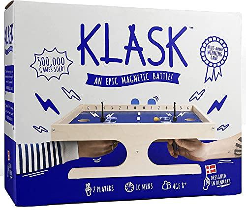 KLASK - Preisgekröntes Geschicklichkeitsspiel für 2 Spieler - Brettspiel für Familie und Erwachsene -...