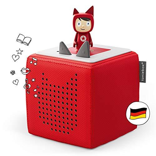 Toniebox Starterset in Rot: Toniebox + Kreativ-Tonie - Der Tragebare Lautsprecher für Tonies Hörfiguren...