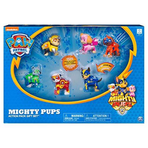Paw Patrol 6046559 Mighty Pups Geschenkset, Mehrfarbig