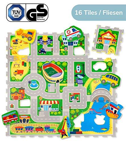 Hakuna Matte Puzzlematte für Babys City – TÜV SÜD GS Zertifiziert – 20% dickere Spielmatte in...