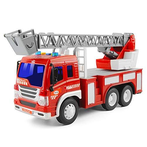 GizmoVine Spielzeugautos Reibung angetrieben Feuerwehraut Baby Spielzeug Trägheit Fahrzeuge mit Lichtern...