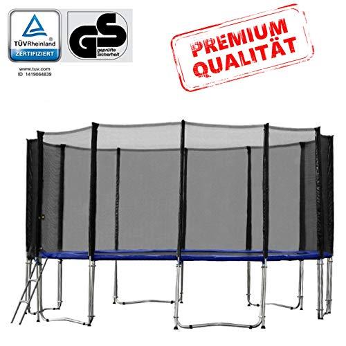 Baunsal GmbH & Co.KG Gartentrampolin Trampolin 487 bis 490 cm in blau mit Sicherheitsnetz und...