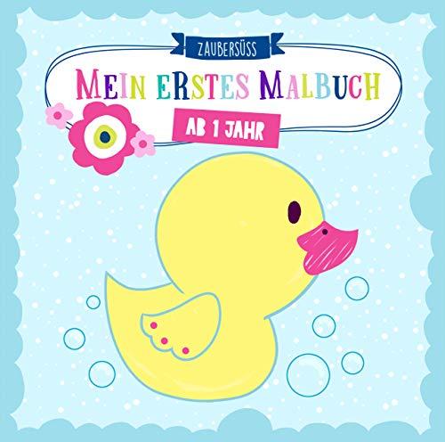 Mein erstes Malbuch ab 1 Jahr: Ausmalen und kritzeln der ersten Wörter für Mädchen und Jungen mit...