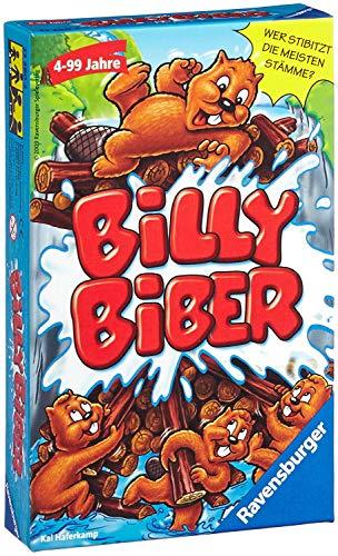 Ravensburger 23280 - Billy Biber, Mitbringspiel für 1-4 Spieler, Kinderspiel ab 4 Jahren, kompaktes...