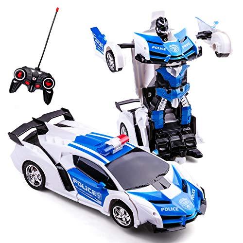 Transformator Ferngesteuertes Auto Transformers Toys 2 in 1 Ferngesteuertes Auto für Kinder Auto...