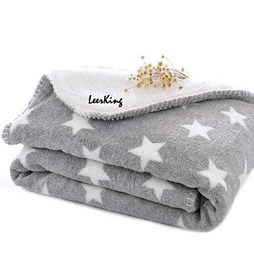 LeerKing Hundedecke Kuscheldecke für Katzen Kaninchen und alle Haustiere waschbar doppeilseitig für...