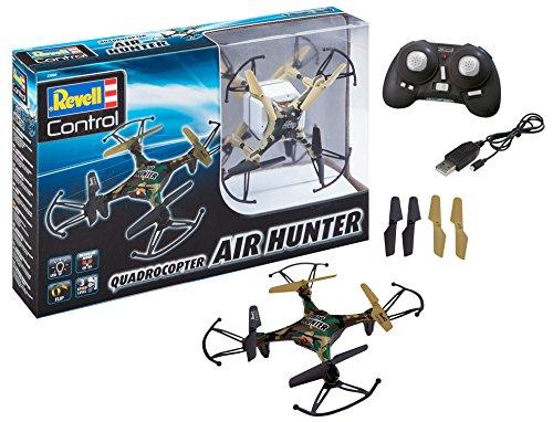 Revell Control 23860 RC Quadcopter Air Hunter, 2.4GHz, Akku, Flip-Funktion, Rotorschutz, LED,...