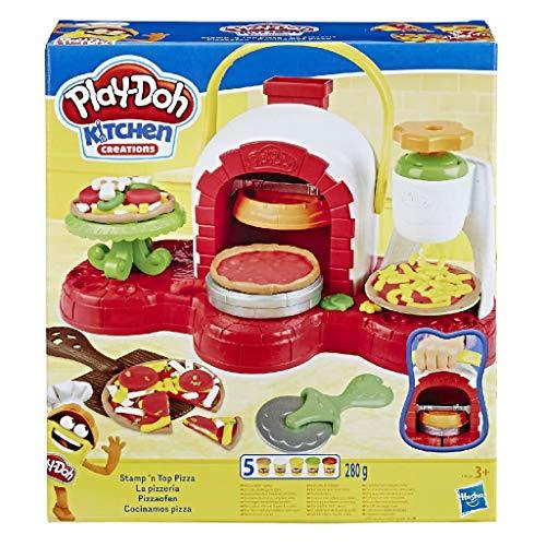 Play-Doh - E4576EU4 Pizzaofen, mit 5 Dosen Play-Doh in verschiedenen Farben, Knete