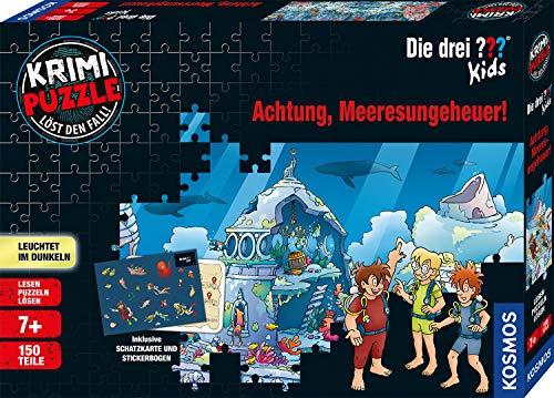 Kosmos680664Krimi Puzzle Die drei ??? Kids - Achtung, Meeresungeheuer! Leuchtet im Dunkeln, 150...