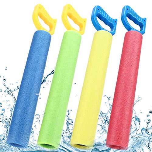 joylink Wasserpistole Spielzeug, 4 Stück Wasserspritzpistolen Schaumstoff Kinder Schaum...