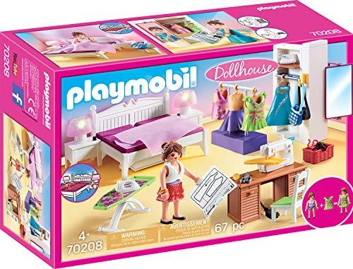 Playmobil 70208 Dollhouse Schlafzimmer mit Nähecke, ab 4 Jahren, bunt, one Size