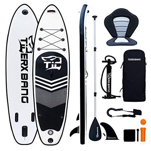 TIGERXBANG SUP Board Stand Up Paddling Board | 10'6' 320x80x15cm | Kayak Seat| Komplettes aufblasbares...