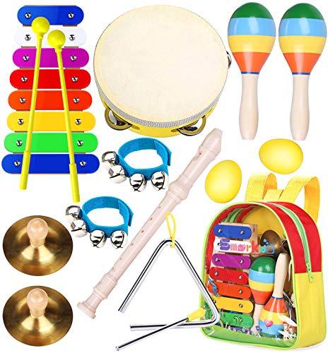 Kinder Musikinstrumenten Spielzeug Set - Smarkids Schlaginstrument Musikalisches Spielzeug für Kinder...