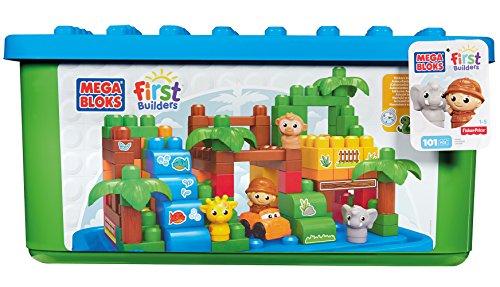 Mattel Mega Bloks First Builders DCL33 - Themenbox, Großer Zoo, bunt